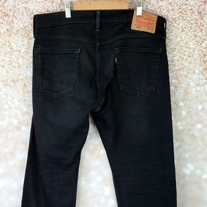 Levis 514 black jeans 34 x 30 Straight fit Zip fly